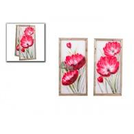 muurdecoratie linnen dubbele bloem 2 assortiment design hoog 1 meter