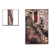 muurdecoratie  3d trap van metaal hoog 60 cm op=op