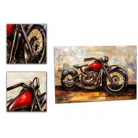 muurdecoratie motorfiets metaal op=op