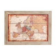 muurdecoratie kaart Europa hout