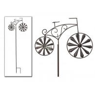 steker fiets metaal lang 132 cm bruin  op=op