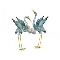 kraanvogel metaal 86 en 99 cm hoog 2 assortiment design sp