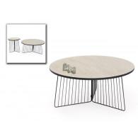 bijzet tafel mdf en metaal diameter 50 cm hoog 50 cm op=op