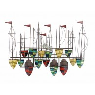 muurdecoratie zeilboot 123x82 cm