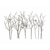 muurdecoratie boom met vogels 127x90 cm