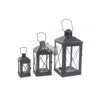 lantaarn set van 3 stuks Velletri metaal hoog 20 30 en 40 cm sp