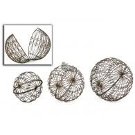 decoratie kogel set van 3 stuks Tecla metaal rond 24,30 en 35cm