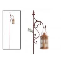 tuinsteker los voor lantaarn 170 cm bewerkt met krul op=op