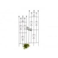 set van 2 stuks half ronde plantgeleider metaal Sevilla hoog 1.45/ 1.70 meter