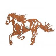 muurdecoratie paard metaal roest op=op