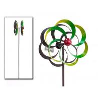 tuinsteker windmolen verde metaal 29x46x201
