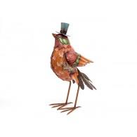 vogel met hoed hoog 56 cm op=op