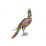 papagaai groen metaal hoog 48 cm