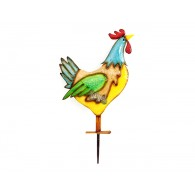steker kip bont gekleurd hoog 40 cm op=op