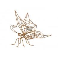 vlinder metaal roest hoog 45 cm