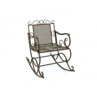 schommelstoel metaal antiek bruin