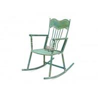 schommelstoel Cerwo metaal antiek blauw