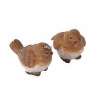 vogel polystone bruin 2 assortiment design hoog 5.5 cm op=op