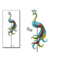 steker pauw bont gekleurd hoog 140 cm