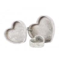 beplantings hart set van 3 stuks cement
