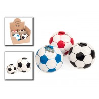 spaarpot voetbal 3 assortiment kleur keramiek in display 10 cm