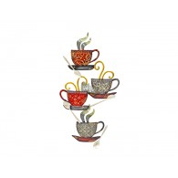 muurdecoratie Coffee time hoog 83 breed 42 cm