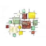 muurdecoratie Gebo metaal 64x75 cm