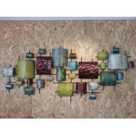 muurdecoratie Gebo metaal 64x152 cm