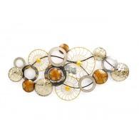 muurdecoratie wheel metaal 72x1520x6 cm