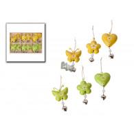 hanger hart en vlinder met bel 6 assortiment design 7 cm sp