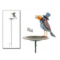 steker vogeldrinkbak rond 22 cm met raaf