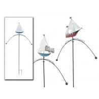 tuinsteker balans zeilboot (hoog 33 cm) metaal lengte 1.44 meter 2 assortiment design