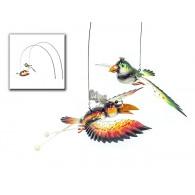 steker vliegende vogel (20x45cm) 2 assortiment design