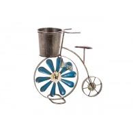 fiets als bloembak blauw hoog 32 cm
