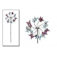 windmolen dubbel met vlinders