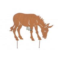 steker ezel hoog 40 cm breed 58 cm