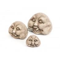 steen gezicht grijs keramiek hoog 10 cm op=op