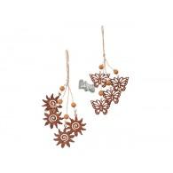 hanger ornament metaal vlinder en zon 2  assortiment design