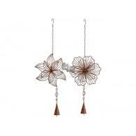 hanger bloemen (23x5 cm) donker bruin lang 70 cm op=op