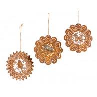 hanger ornament metaal rond 12 cm 3 assortiment design