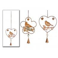 hanger hart met vogels 2 assortiment design