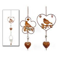 hanger met theelicht houder vogel 2 assortiment design