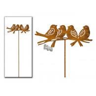 steker roest vogels op tak (15 cm) hoog 35 cm