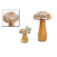 paddenstoel hout hoog 15 cm op=op