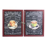 muurdecoratie Cappuccino hoog 69 cm 2 assortiment design op=op