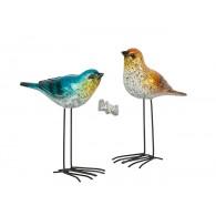 vogel polystone hoog op metalen poten 2 assortiment design sp