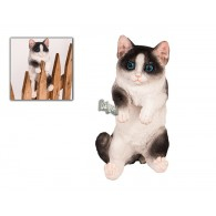 hekdier kat polystone hoog 20 cm