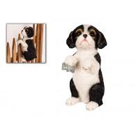 hekdier hond polystone hoog 21 cm