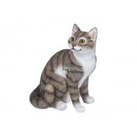 kat zittend polystone hoog 33 cm