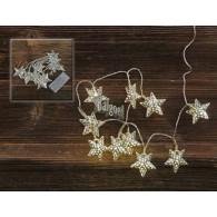 licht ketting ster zilver met 10 lichtjes